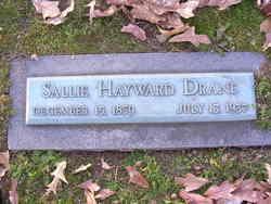 Sarah Anne Sallie <i>Hayward</i> Drane