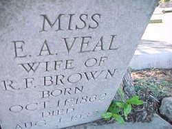 Mrs E. A. <i>Veal</i> Brown