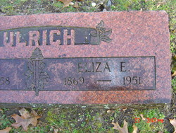 Eliza E Fannie <i>Buchanan</i> Ulrich