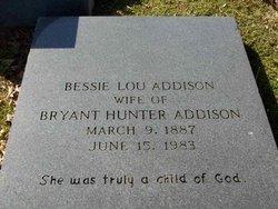 Bessie Lou <i>Hamer</i> Addison