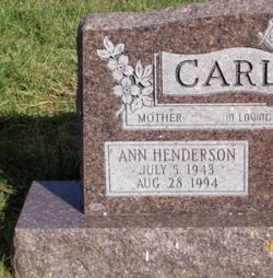 Ann <i>Henderson</i> Carlton
