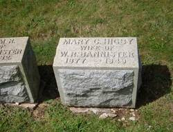 Mary C <i>Higby</i> Bannister