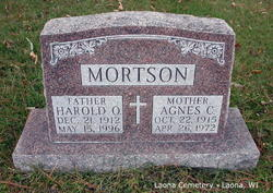 Agnes C <i>Betker</i> Mortson