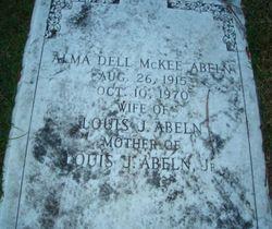 Alma Dell <i>McKee</i> Abeln