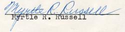 Myrtle Rachel <i>Hiscock</i> Russell