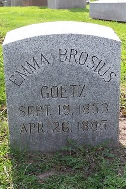 Emma <i>Brosius</i> Goetz