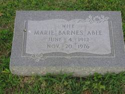 Marie <i>Barnes</i> Able