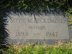 Hattie Mary <i>Boyer</i> Beckemeyer