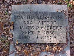 Martha Elizabeth <i>Cox</i> Andrews