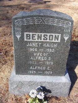 Janet <i>Haigh</i> Benson