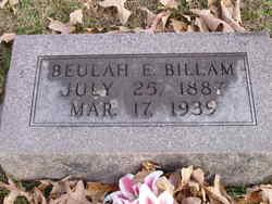Beulah E. <i>Smith</i> Billam