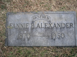 Fannie B <i>Roane</i> Alexander