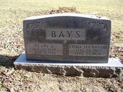 Emma <i>Sherwood</i> Bays