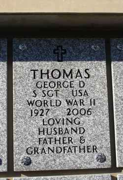 Sgt George Donald Yogi Thomas