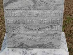 Mrs M. F. Barrett