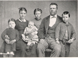 Sarah Jane (Crowther) and Charles Henry Johnson Family