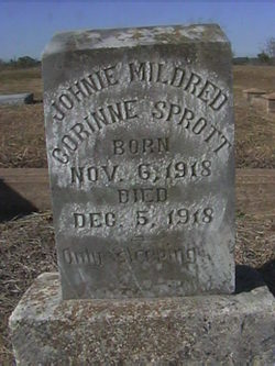 Infant Twin Johnie Mildred Sprott