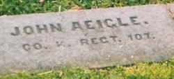 Pvt John Aeigle
