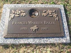 France <i>Warren</i> Baker