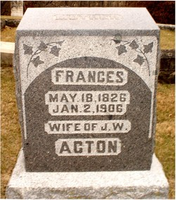 Frances <i>McDivitt</i> Acton