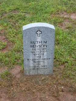 Ruth M <i>Blankenship</i> Benson