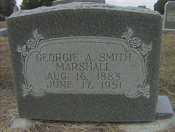 Georgie A <i>Smith</i> Marshall