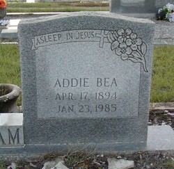 Addie Bea <i>Andrews</i> Woodham