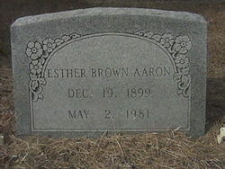Esther <i>Brown</i> Aaron