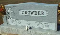 Billy Jean Crowder