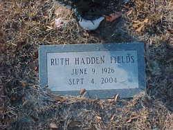 Ruth <i>Hadden</i> Fields
