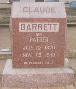 Rev Claude Henry Garrett