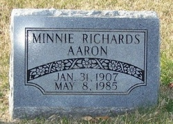 Minnie Richards Aaron
