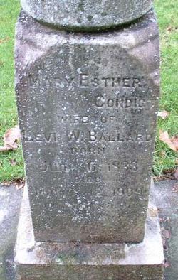 Mary Esther <i>Condict</i> Ballard