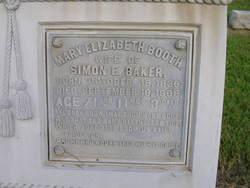 Mary Elizabeth Mollie <i>Booth</i> Baker
