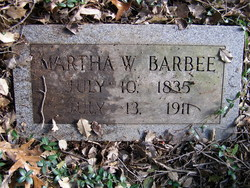 Martha Ellen <i>Weedon</i> Barbee