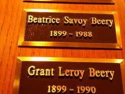 Beatrice <i>Savoy</i> Beery
