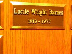 Lucile <i>Wright</i> Barnes