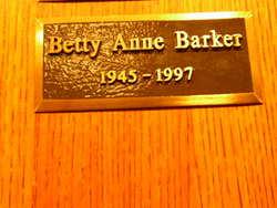 Betty Anne Barker