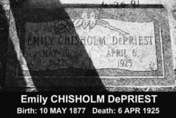Emily <i>Chisholm</i> DePriest