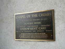 Chapel of the Chimes Columbarium and Mausoleum