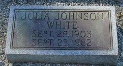 Julia <i>Johnson</i> White