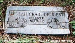 Beulah Mary <i>Craig</i> DePriest