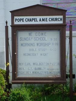 Pope Chapel AME Church