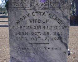 Mary Etta <i>Clark</i> Holtzclaw