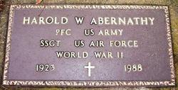 Sgt Harold W. Abernathy