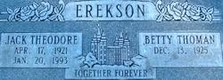 Jack Theodore Erekson