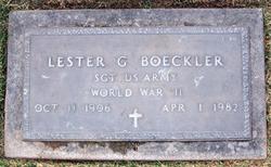 Lester G Boeckler