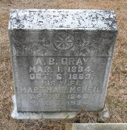Martha Rebecca <i>McNeil</i> Gray