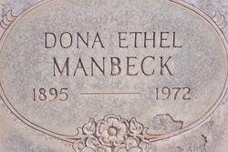 Dona Ethel <i>Oliphant</i> Manbeck