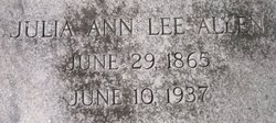 Julia Ann <i>Lee</i> Allen